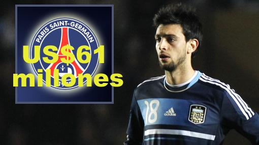 París Saint Germain pagó US$61 millones por argentino Javier Pastore