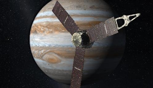 Sonda espacial que utiliza paneles solares inició viaje a Júpiter