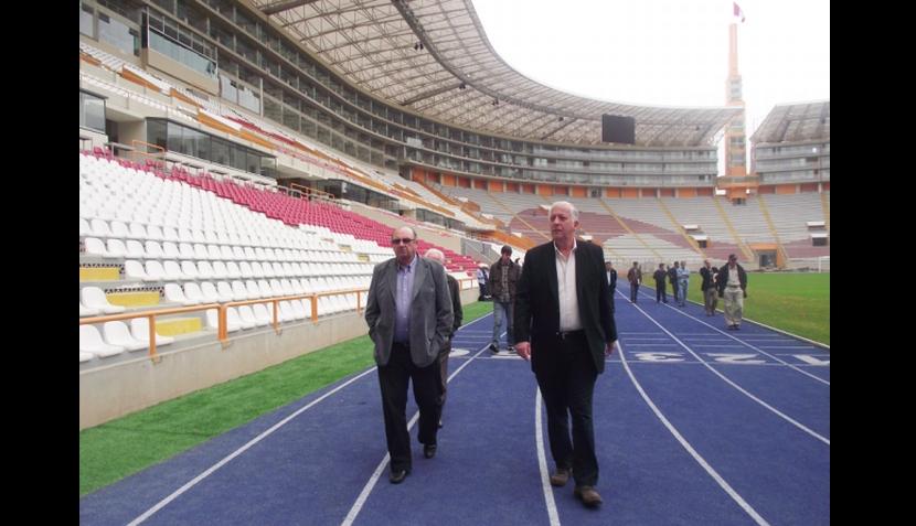 FOTOS: Markarián visitó hoy el Estadio Nacional para ultimar detalles hacia las Eliminatorias