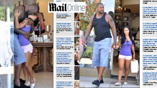 Shaquille O'Neal y su novia: amor y más de medio metro de diferencia