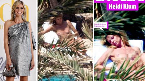 De infarto: modelo Heidi Klum fue captada haciendo 'topless' en Ibiza