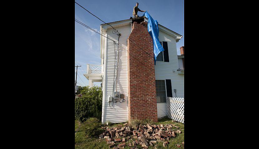 FOTOS: los daños que dejó el poderoso sismo en la costa este de EE.UU.