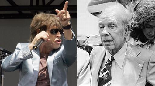 Encuentro de dos íconos: el día en que Mick Jagger conoció a Borges