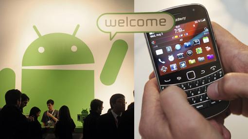 BlackBerry lanzará teléfonos compatibles con Android