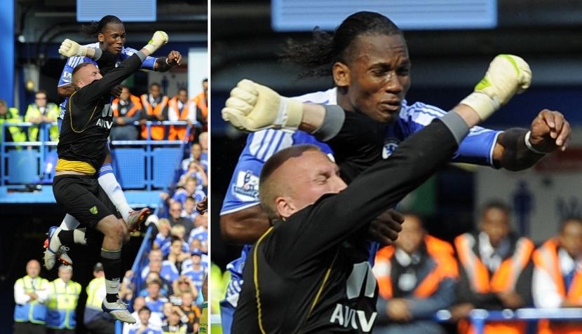 FOTOS: Didier Drogba y toda la secuencia de la jugada que lo dejó inconsciente