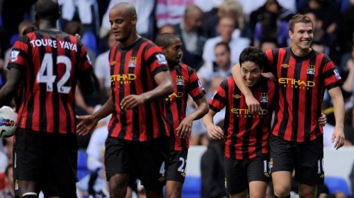 Manchester City ganó 5-1 con goles de Dzeko y uno del 'Kun' Agüero