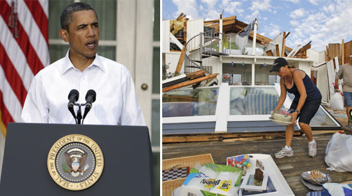 Obama aseguró que lo peor del huracán Irene aún no ha pasado