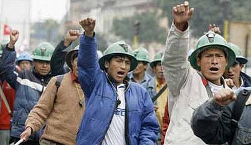 Sindicatos mineros acatarán dos días de huelga hasta el viernes