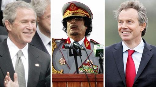 EE.UU. e Inglaterra colaboraron estrechamente con Gadafi