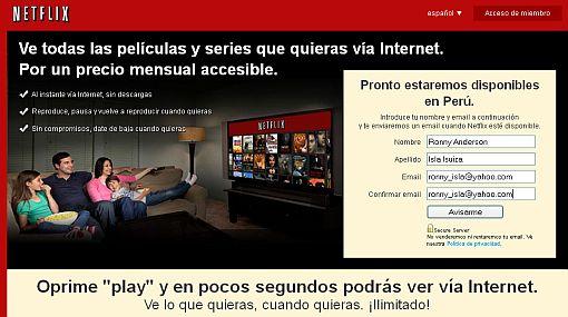 Netflix estará disponible en Perú desde el 9 de setiembre