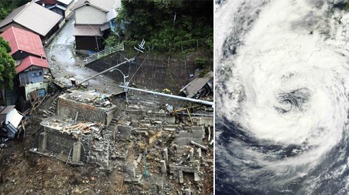 Aumenta a 34 cifra de muertos por el peor tifón en Japón en siete años
