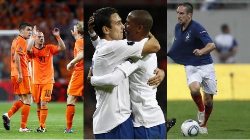 Holanda, Inglaterra y Francia quedaron a un paso de la Eurocopa