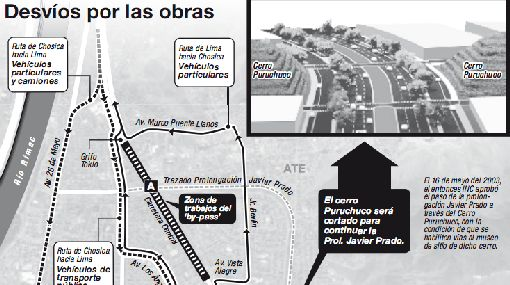 'By-pass' reducirá de 40 a 10 minutos tránsito por tramo de Carretera Central