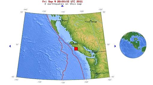 Terremoto de 6,4 grados remeció Canadá esta tarde