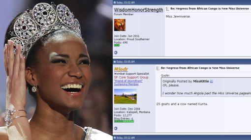 Angoleña elegida Miss Universo recibe lluvia de insultos racistas vía Internet