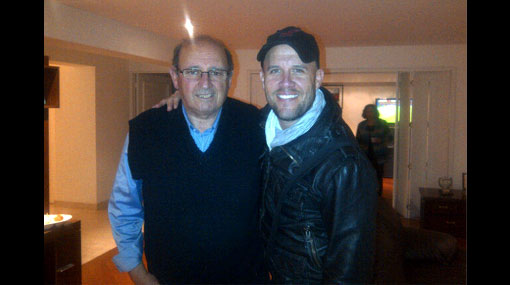 Con la blanquirroja: Gian Marco visitó a Sergio Markarián en su casa