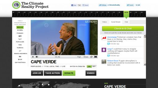 Al Gore realiza campaña de 24 horas en Internet para concientizar sobre el cambio climático