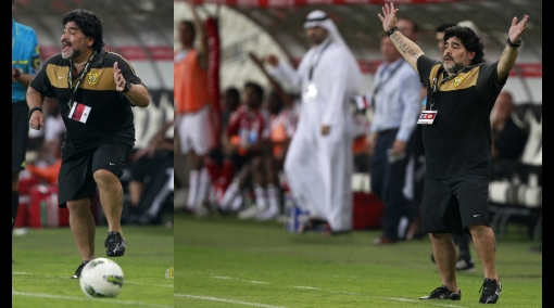 Maradona sufrió una derrota en su primer partido con Al Wasl