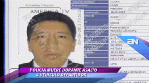 Delincuentes asesinaron a policía que resguardaba camión en SJL