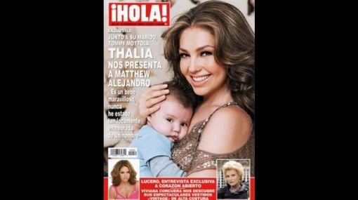 Thalía presentó a su segundo hijo