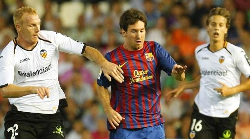 Barcelona igualó 2-2 ante Valencia con goles de Fábregas y Pedrito