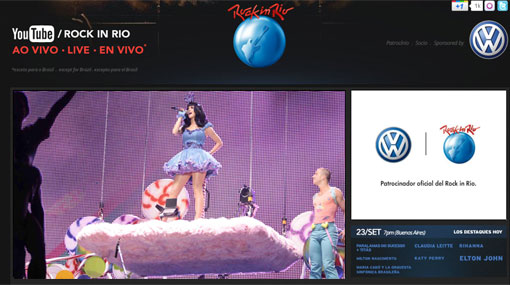 YouTube transmite en vivo el festival Rock in Rio