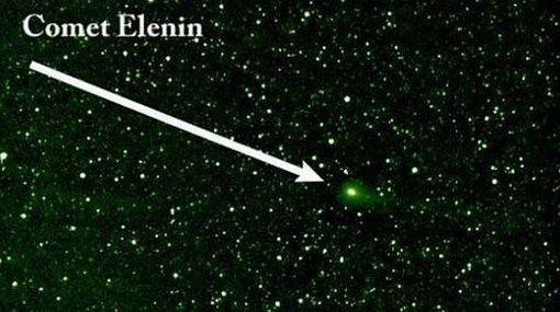 El cometa Elenin está alineado con la Tierra y el Sol hoy