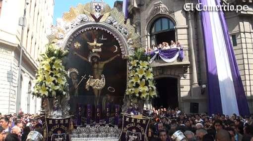 VIDEO: el recorrido del Señor de los Milagros por el centro de Lima