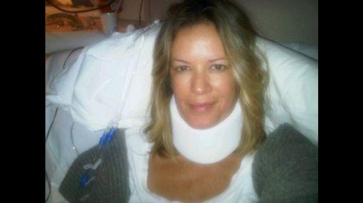 La ex de Ricky Martin, Rebecca de Alba, sufrió aparatoso accidente