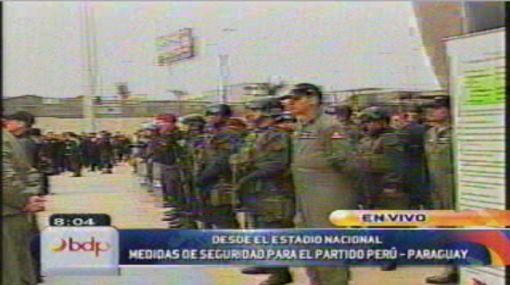 Siete mil policías brindarán seguridad en el Perú vs. Paraguay
