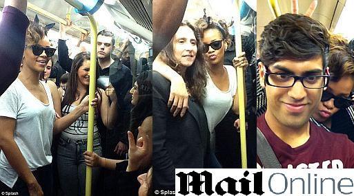 Rihanna tomó el metro para ir a su propio concierto en Londres