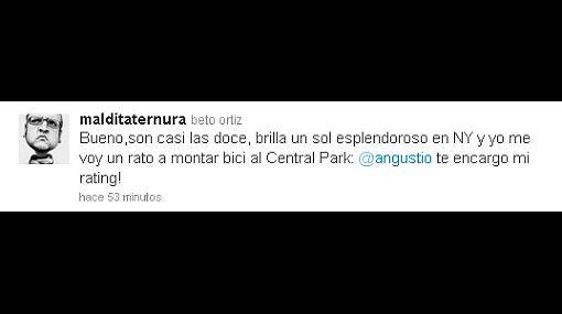 "Beto Ortiz a Augusto Thorndike por Twitter: ""Te encargo mi ráting"""