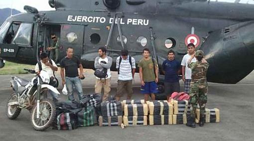 Cayeron siete presuntos narcotraficantes en la zona del VRAE