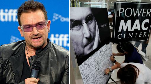 Bono, líder de U2, también recuerda a su amigo Steve Jobs