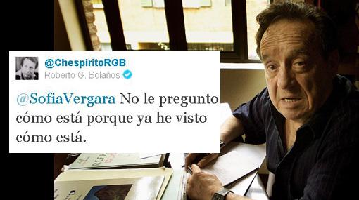 """""""Chespirito"""" coquetea con la bella Sofía Vergara en Twitter"""