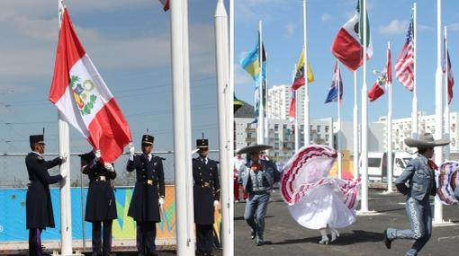 VIDEO: bandera peruana ya flamea en los Juegos Panamericanos