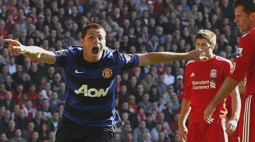 'Chicharito' dio empate 1-1 a Manchester United ante Liverpool