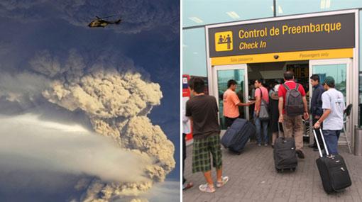 Vuelos entre Perú y Argentina con problemas por ceniza volcánica