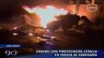 VIDEO: seis muertos por explosión de auto con pirotécnicos en Juliaca - Noticias de pio salazar