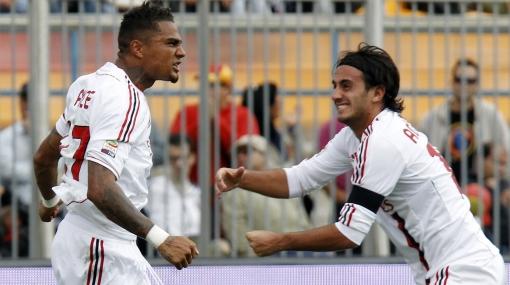 Boateng anotó un 'hat-trick' y Milan remontó un 3-0 del Lecce