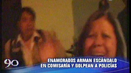VIDEO: mamá de joven que golpeó a policía en La Molina también agredió a otro agente