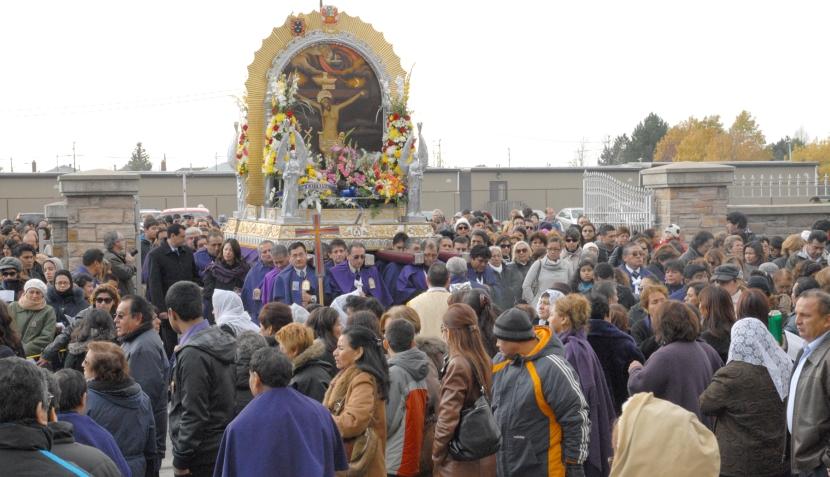 Así se realizó la procesión del Señor de los Milagros en Canadá