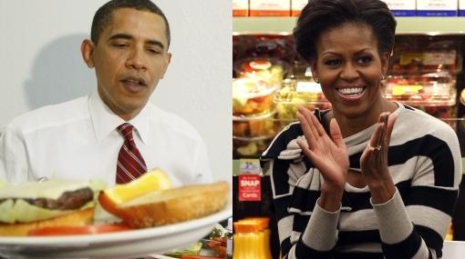¿Barack y Michelle Obama están enfrentados por la comida?