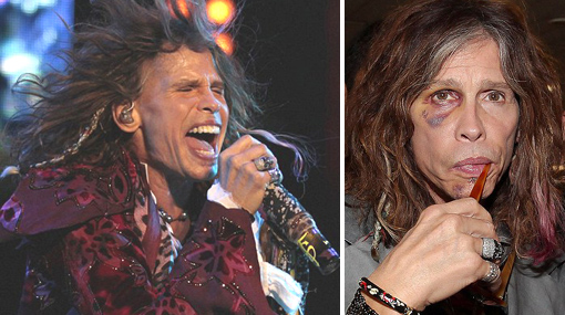 Steven Tyler lució recuperado en show en Colombia