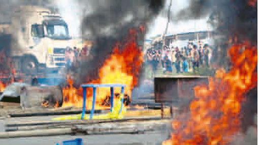 Mineros informales quemaron 25 negocios en Madre de Dios