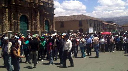 Antimineros de Cajamarca llegaron hasta la zona del proyecto Conga