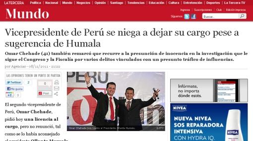 Chehade y Caso Andahuasi captan interés de la prensa internacional