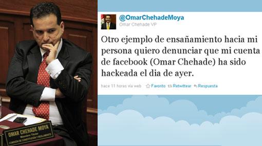 Omar Chehade denunció que su cuenta de Facebook fue hackeada