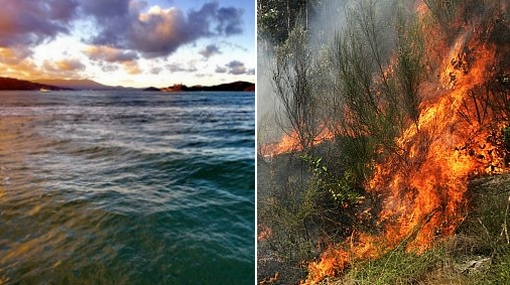 Temperatura de los océanos ayudaría a predecir incendios en Sudamérica