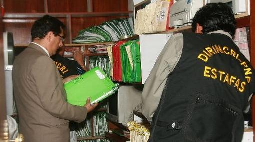 Policía decomisa cinco mil expedientes falsos de jubilados